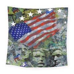 Usa United States Of America Images Independence Day Square Tapestry (large)