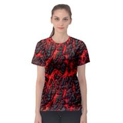 Volcanic Textures Women s Sport Mesh Tee