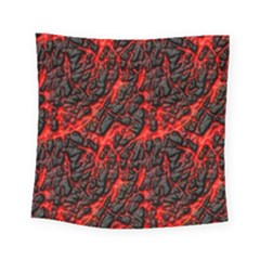 Volcanic Textures Square Tapestry (Small)