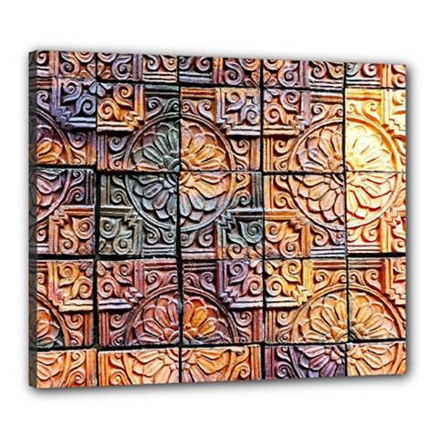 Wooden Blocks Detail Canvas 24  X 20
