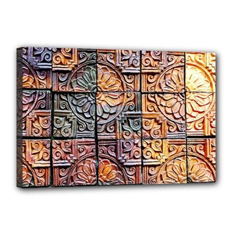 Wooden Blocks Detail Canvas 18  x 12