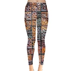 Wooden Blocks Detail Leggings