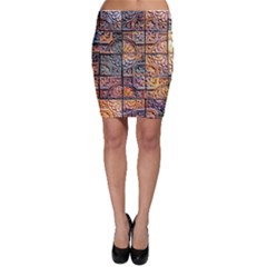 Wooden Blocks Detail Bodycon Skirt