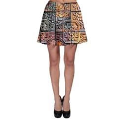 Wooden Blocks Detail Skater Skirt