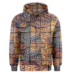 Wooden Blocks Detail Men s Zipper Hoodie