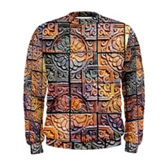 Wooden Blocks Detail Men s Sweatshirt