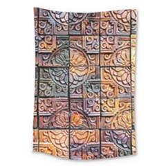 Wooden Blocks Detail Large Tapestry