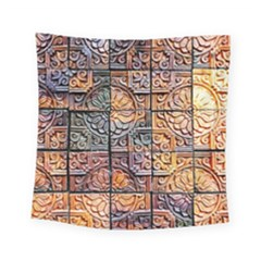 Wooden Blocks Detail Square Tapestry (Small)