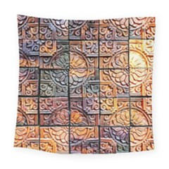 Wooden Blocks Detail Square Tapestry (Large)