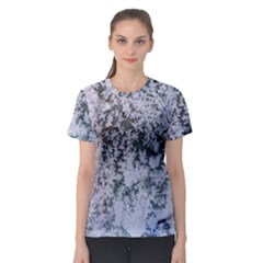 Frosted Winter Texture Women s Sport Mesh Tee