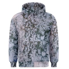 Frosted Winter Texture Men s Zipper Hoodie