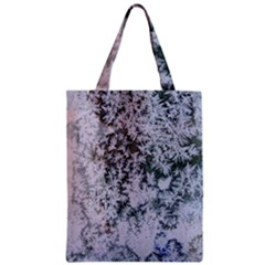 Frosted Winter Texture Zipper Classic Tote Bag