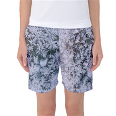 Frosted Winter Texture Women s Basketball Shorts