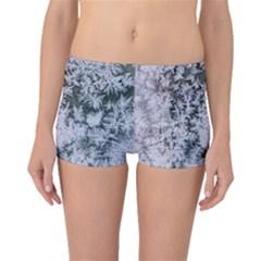 Frosted Winter Texture Boyleg Bikini Bottoms