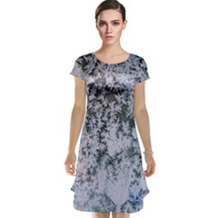 Frosted Winter Texture Cap Sleeve Nightdress
