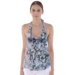 Frosted Winter Texture Babydoll Tankini Top