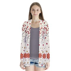 Spring Floral Pattern With Butterflies Cardigans