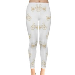 Retro Bicycles Motif Vintage Pattern Leggings