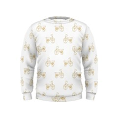Retro Bicycles Motif Vintage Pattern Kids  Sweatshirt