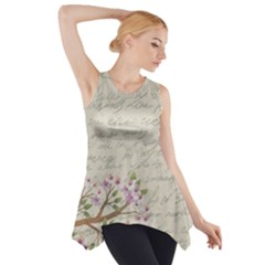 Cherry blossom Side Drop Tank Tunic