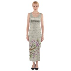 Cherry blossom Fitted Maxi Dress