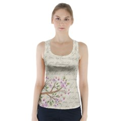 Cherry blossom Racer Back Sports Top