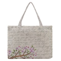 Cherry blossom Medium Zipper Tote Bag