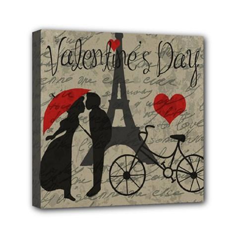 Love Letter   Paris Mini Canvas 6  X 6