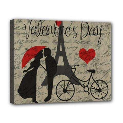 Love letter - Paris Deluxe Canvas 20  x 16