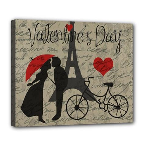 Love letter - Paris Deluxe Canvas 24  x 20