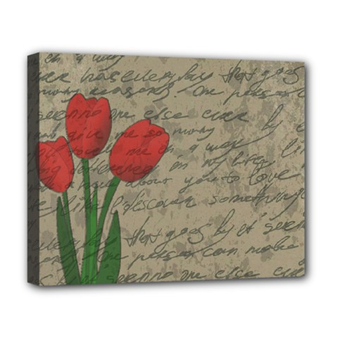 Vintage tulips Deluxe Canvas 20  x 16
