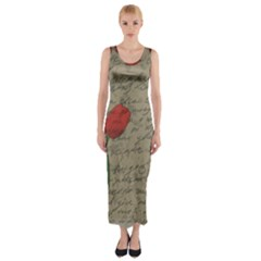 Vintage tulips Fitted Maxi Dress
