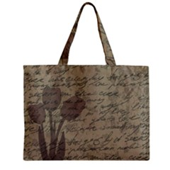 Vintage tulips Zipper Mini Tote Bag