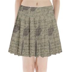 Vintage tulips Pleated Mini Skirt