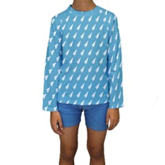 Air Pattern Kids  Long Sleeve Swimwear