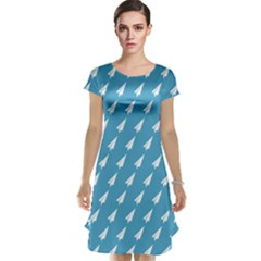 Air Pattern Cap Sleeve Nightdress