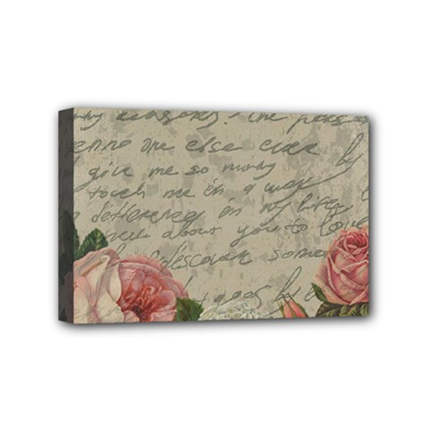Vintage roses Mini Canvas 6  x 4