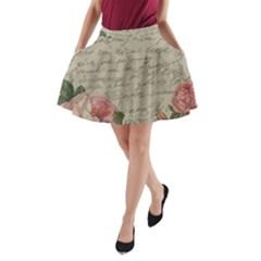 Vintage roses A-Line Pocket Skirt