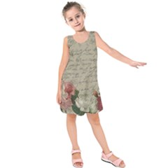 Vintage roses Kids  Sleeveless Dress