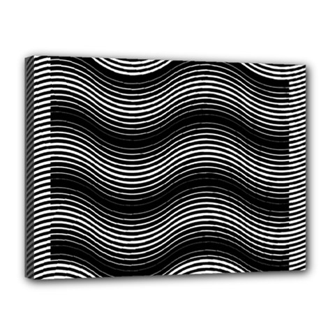 Two Layers Consisting Of Curves With Identical Inclination Patterns Canvas 16  x 12