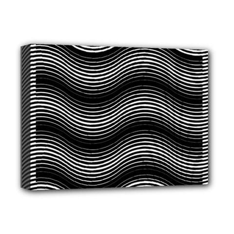 Two Layers Consisting Of Curves With Identical Inclination Patterns Deluxe Canvas 16  x 12