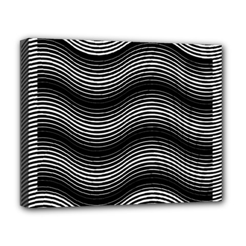 Two Layers Consisting Of Curves With Identical Inclination Patterns Deluxe Canvas 20  x 16