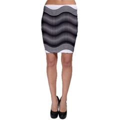 Two Layers Consisting Of Curves With Identical Inclination Patterns Bodycon Skirt