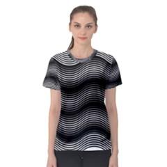 Two Layers Consisting Of Curves With Identical Inclination Patterns Women s Sport Mesh Tee