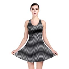 Two Layers Consisting Of Curves With Identical Inclination Patterns Reversible Skater Dress
