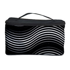 Two Layers Consisting Of Curves With Identical Inclination Patterns Cosmetic Storage Case