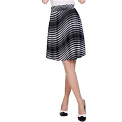 Two Layers Consisting Of Curves With Identical Inclination Patterns A-Line Skirt
