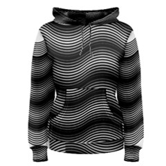 Two Layers Consisting Of Curves With Identical Inclination Patterns Women s Pullover Hoodie