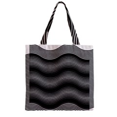 Two Layers Consisting Of Curves With Identical Inclination Patterns Zipper Grocery Tote Bag