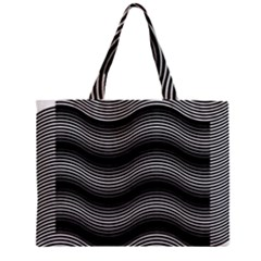 Two Layers Consisting Of Curves With Identical Inclination Patterns Zipper Mini Tote Bag
